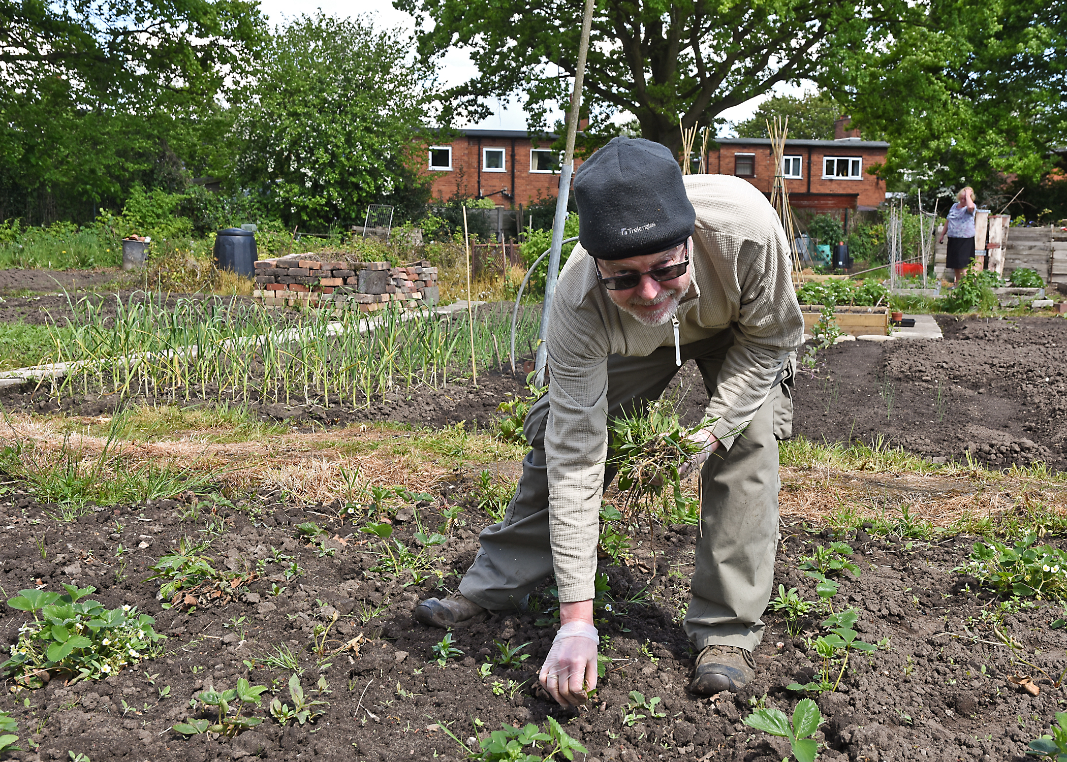 Chairman Adrian Ford - at Lawton Road Allotment