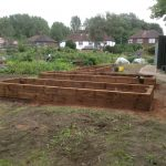 Three Completed Accessibility Raised Beds at Lawton Rd