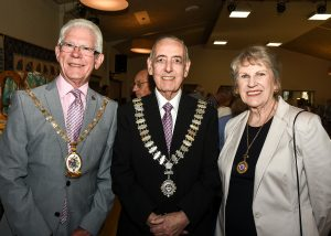 Cheshire East Borough Mayor Councillor Arthur Moran, Mrs Carol Thomas Mayoress and Chair of the Council Councillor Colin Burgess 2017