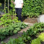 CHRON Mrs Poynter in her Vegetable Garden