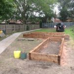 Three of the completed Acecssibility Raised Beds