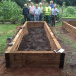 Great Teamwork !  Completed the Final and Fourth accessibility raised bed!